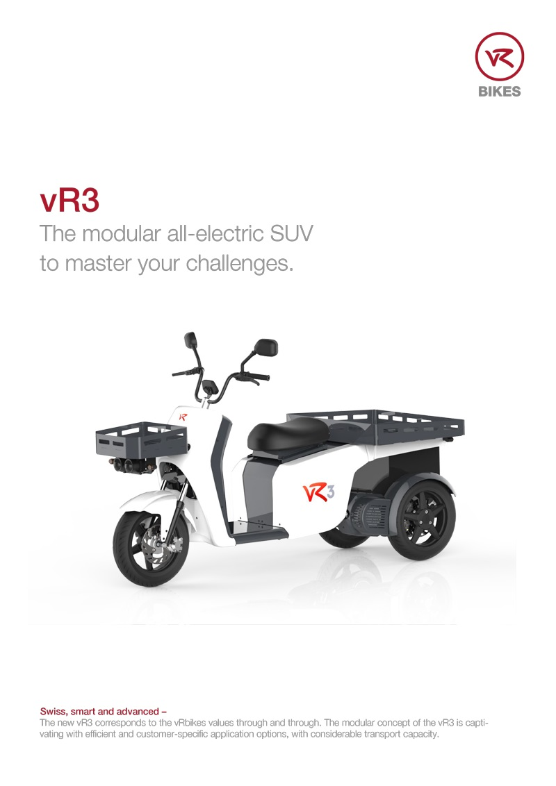 Download brochure vR3 - the modular electric vehicle as a PDF